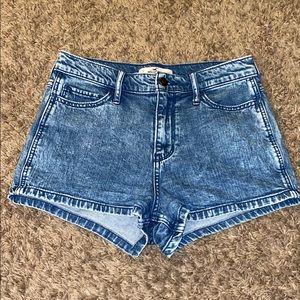 Hollister high rise acid wash shorts